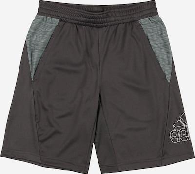 ADIDAS PERFORMANCE Sportshorts in dunkelgrau / graumeliert / weiß, Produktansicht