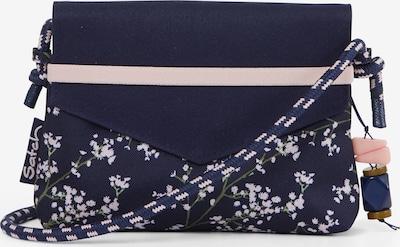 Satch Clutch in blau / weiß, Produktansicht
