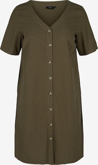 Zizzi Robe-chemise 'Jeasy' en kaki, Vue avec produit