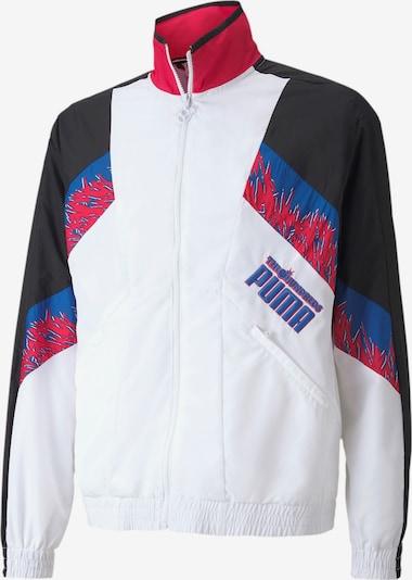 PUMA Trainingsjacke 'The Hundreds x' in blau / pink / schwarz / weiß, Produktansicht