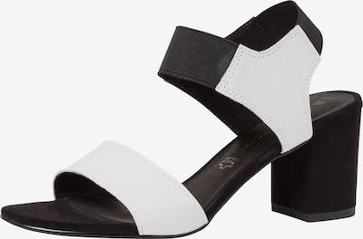 MARCO TOZZI Sandales en noir / blanc, Vue avec produit