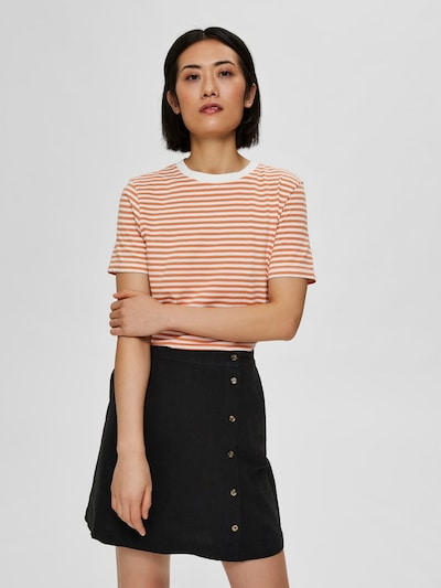 SELECTED FEMME Shirt in de kleur Pink / Wit: Vooraanzicht