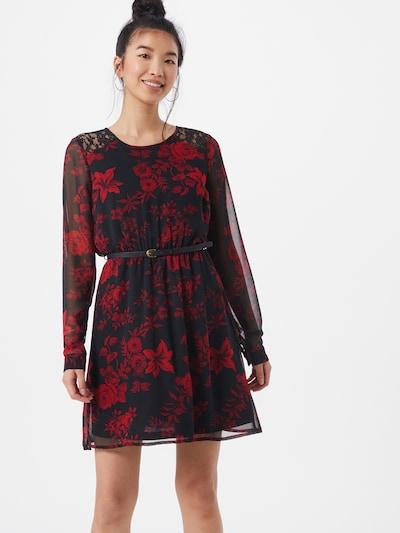VERO MODA Robe 'Caroline' en rouge / noir, Vue avec modèle