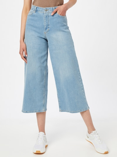 FIVEUNITS Jeans 'Abby Crop' in Blue denim, View model