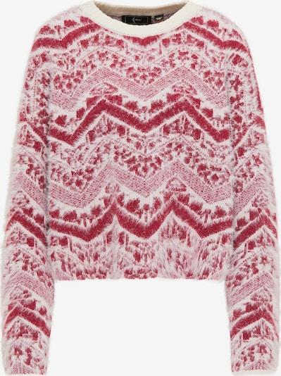 faina Pullover in pastellrot / naturweiß, Produktansicht
