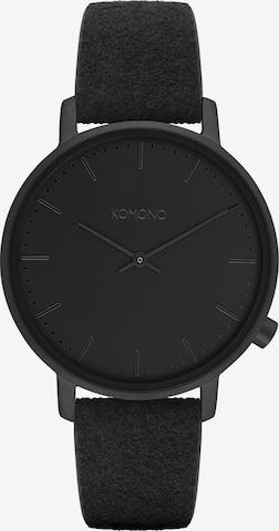 Komono Analog Watch in Black