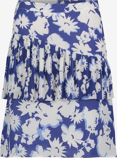 Betty Barclay Plisseerock mit Blumenprint in blau / weiß, Produktansicht
