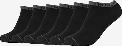 MUSTANG Sneakersocken 'Matthew' im 6er Pack in schwarz, Produktansicht