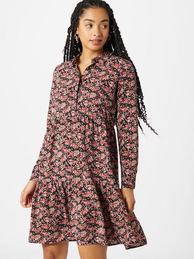 ONLY Kleid 'LARRY' in rosé / grenadine / schwarz / weiß, Modelansicht