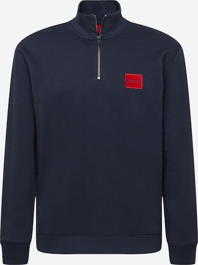 HUGO Sweatshirt 'DURTY' in dunkelblau / blutrot / schwarz, Produktansicht