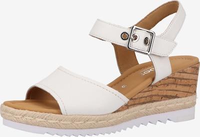 GABOR Sandale in beige / braun / weiß, Produktansicht