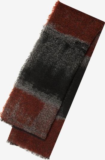 CODELLO Scarf in Grey / Dark grey / Rusty red, Item view