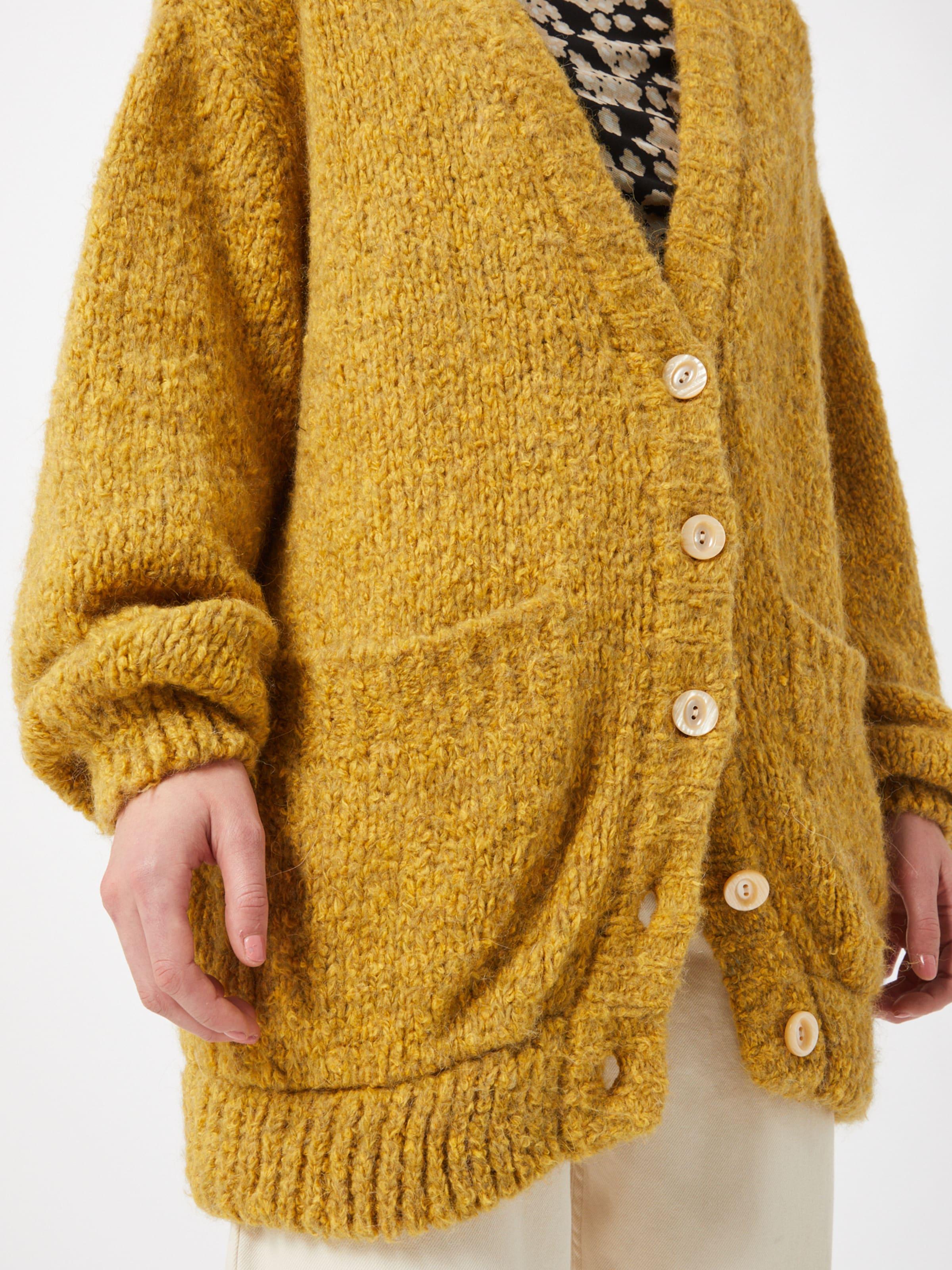 AMERICAN VINTAGE Kardigán 'Tudbury' sárga színben