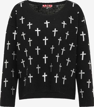 myMo ROCKS Oversized Sweater in Black
