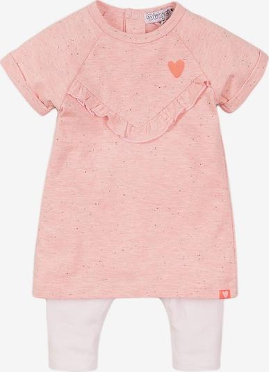 Dirkje Jerseykleid + Leggings in pinkmeliert / weiß, Produktansicht