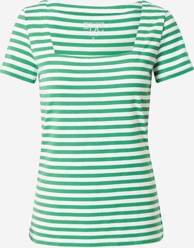 Tricou EDC BY ESPRIT pe verde / alb, Vizualizare produs