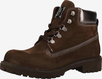 Darkwood Lace-Up Ankle Boots in Brown