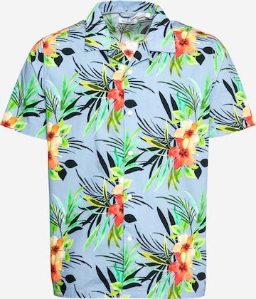 KnowledgeCotton Apparel Hemd 'Wave' in Mischfarben