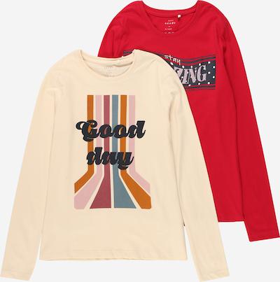 NAME IT Tričko 'VEEN' - krémová / okrová / svetloružová / červená / čierna, Produkt