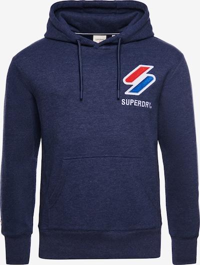 Superdry Sweat-shirt en bleu / bleu chiné / rouge / blanc, Vue avec produit