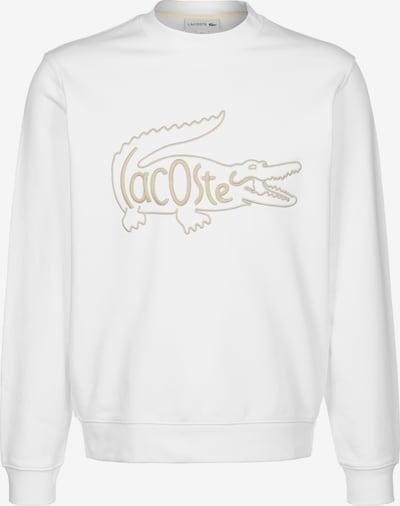 LACOSTE Sweat-shirt en beige clair / blanc, Vue avec produit