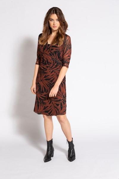 Gina Laura Kleid in dunkelrot / schwarz, Modelansicht