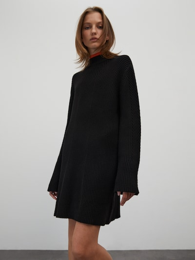 EDITED Knitted dress 'Nomi' in Black, View model