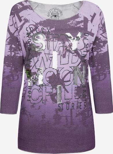 Soccx Pullover mit All Over Print und Pailletten in lila, Produktansicht