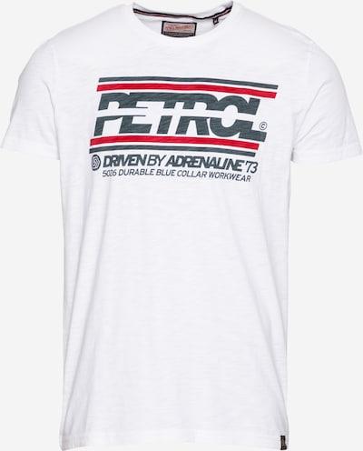 Petrol Industries T-Shirt in rot / schwarz / weiß, Produktansicht