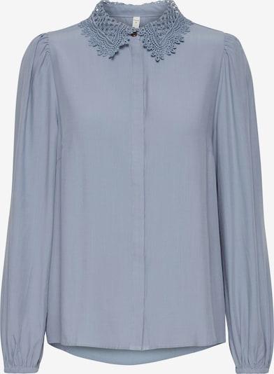 PULZ Jeans Langarmbluse 'PZMYRA' in blau / hellblau, Produktansicht