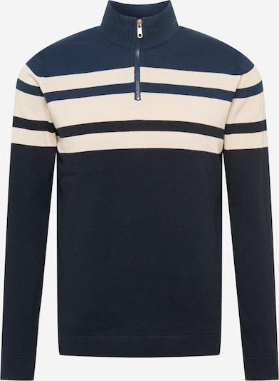 Only & Sons Trui 'Nistoph' in de kleur Beige / Navy / Nachtblauw, Productweergave