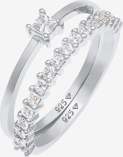 ELLI Ring 'Kristall Ring' in silber, Produktansicht