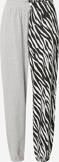 Tally Weijl Pantalon en gris chiné / noir / blanc, Vue avec produit