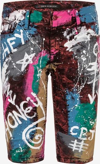 CIPO & BAXX Jeans 'ROYAL STREET' in de kleur Blauw / Groen / Pink / Bourgogne, Productweergave