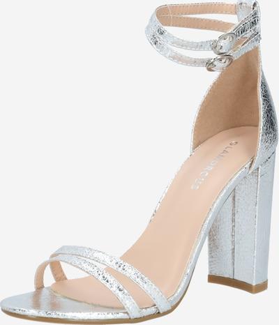 Sandale cu baretă GLAMOROUS pe argintiu, Vizualizare produs