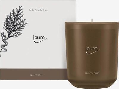 ipuro Duftkerze 'Cuir Candle' in braun / weiß, Produktansicht