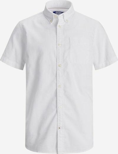 Jack & Jones Junior Overhemd 'Oxford' in de kleur Wit, Productweergave