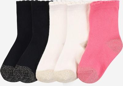 PETIT BATEAU Socken in gold / pink / schwarz / naturweiß, Produktansicht