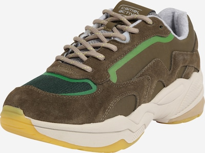 CAMEL ACTIVE Sneaker 'Earth' in oliv / apfel / tanne, Produktansicht