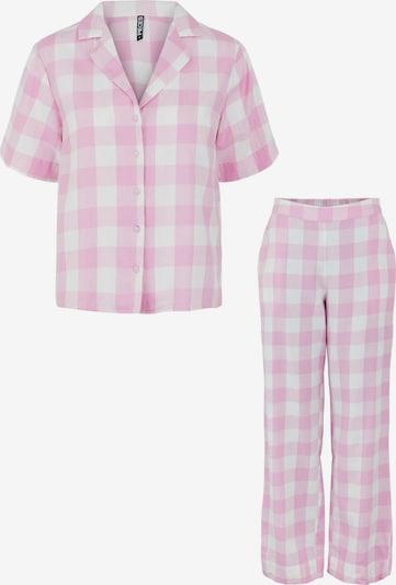 PIECES Pijama 'Amalie' en lila claro / blanco, Vista del producto
