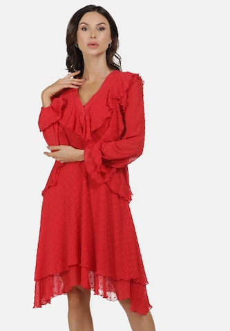 faina Cocktail Dress in Red