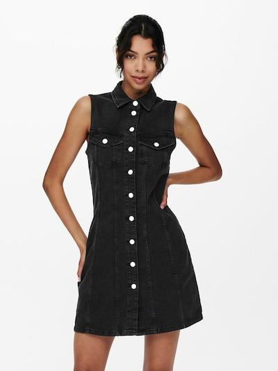 JDY Kleid in black denim, Modelansicht