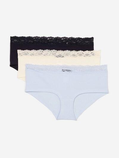 Marc O'Polo Bodywear Pantys ' 3-Pack Multipack ' in hellblau / schwarz / offwhite, Produktansicht