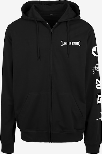 Giacca di felpa 'Linkin Park Anniversary' Mister Tee di colore nero / bianco, Visualizzazione prodotti