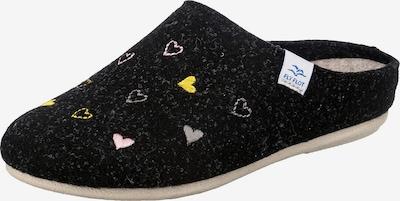 FLY FLOT Pantolette in gelb / hellpink / schwarz / weiß, Produktansicht