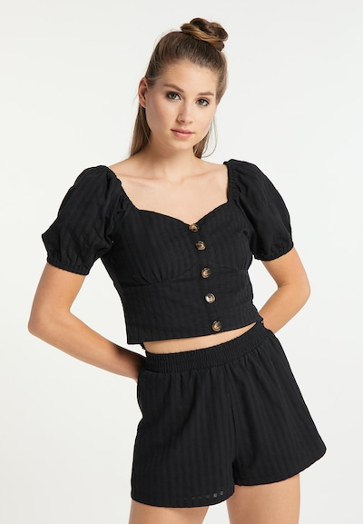 MYMO Blouse in Black, View model