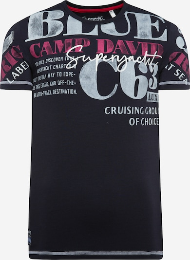 CAMP DAVID T-Shirt in marine / grau / pink / weiß, Produktansicht