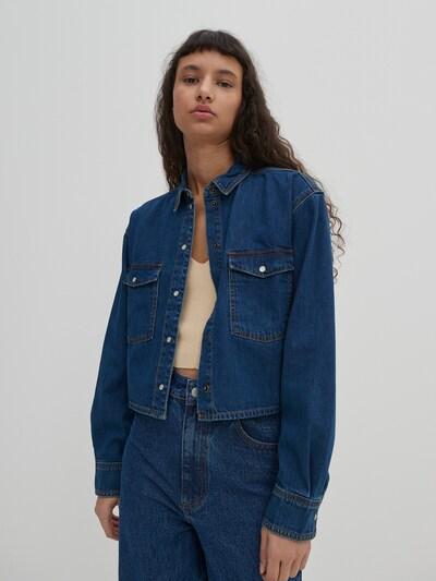 Bluză 'Jordyn' EDITED pe albastru denim, Vizualizare model