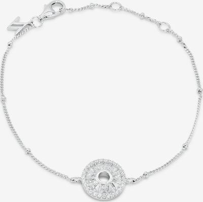Nana Kay Armband 'Shiny Circles' in silber / weiß, Produktansicht
