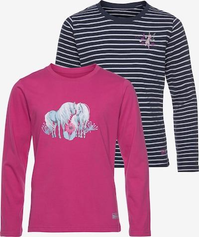 SCOUT Shirt in hellblau / dunkelblau / dunkelpink / weiß, Produktansicht